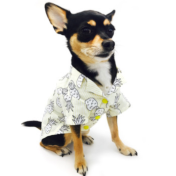 Pineapple Tropical Yellow Dog Camp Shirt
