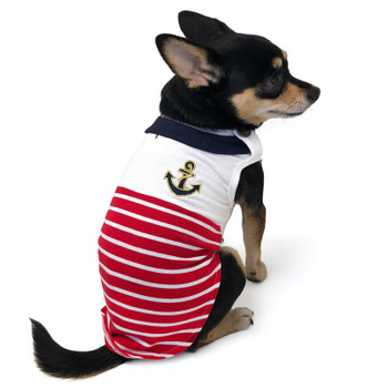 Nautical Stripe Dog Tank