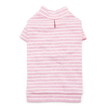 Basic Stripe Pink Dog T-Shirt