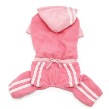 Pink Hooded Lounge Tracksuit Dog Activewear