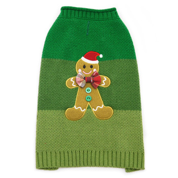 Gingerbread Man Dog Sweater