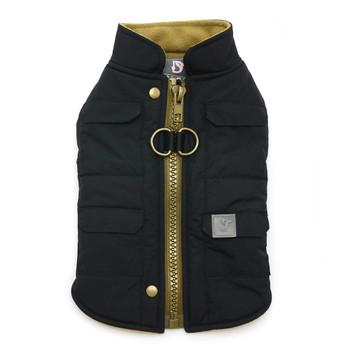Black Pocket Runner Dog Coat