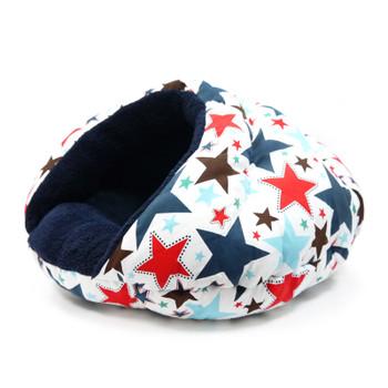 Burger Burrowing Pet Dog Bed - Patriotic Stars