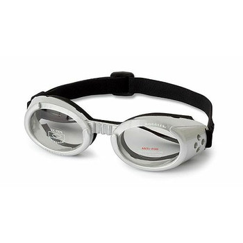 Silver ILS Doggles with Clear Lens Dog Sunglasses