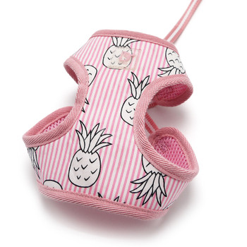 EasyGO Pineapple Pink Dog Harness