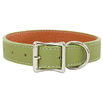 Tuscan Leather Dog Collar & Leash - Sage Green
