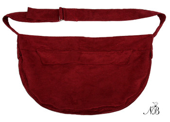 Burgundy Luxe Suede Cuddle Dog Carrier
