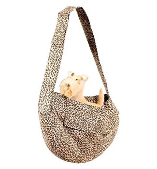 Cheetah Couture Light Luxe Suede Cuddle Dog Carrier