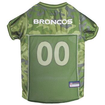 Denver Broncos Pet Camo Jersey