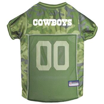 Dallas Cowboys Pet Dog Jersey - Mesh Camo