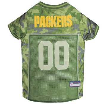 Green Bay Packers Pet Camo Jersey