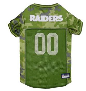 Oakland Raiders Pet Dog Jersey - Mesh Camo