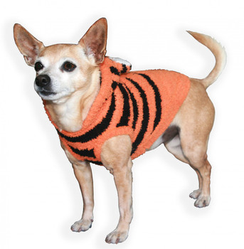 Chenille Tiger Hoodie Dog Sweater