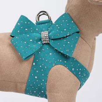 Montego Blue Silver Stardust Nouveau Bow Heart Step-In Harnesses