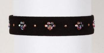 "Black Wide 5/8"" Crystal Paws Dog Collar"