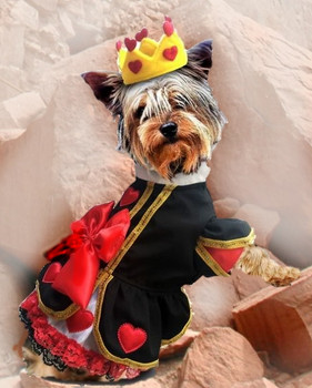 Royal Queen of Hearts Pet Dog Costume