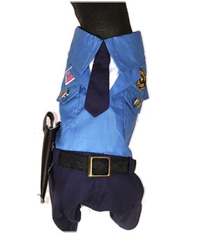 Police Man Pet Dog Costume