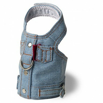 Blue Jean Dog Harness Vest