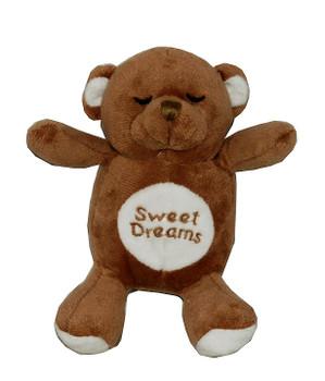 Brown Snoring Bear Dog Toy