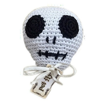 Skully the skull Organic Cotton Crocheted Dog Toys