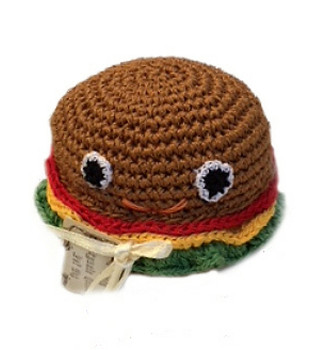 Hamburger Organic Cotton Crocheted Dog Toys