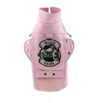 Biker Dawg Dog Jacket - Pink