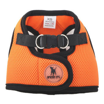 Worthy Dog Step-in Sidekick Dog Harness - Orange