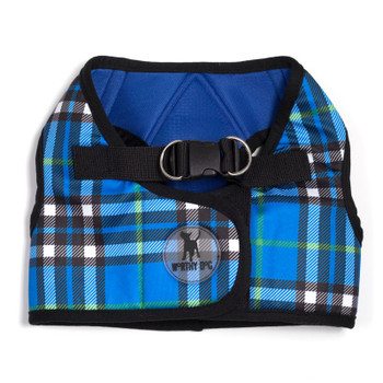 Worthy Dog Step-in Sidekick Dog Harness - Blue Plaid