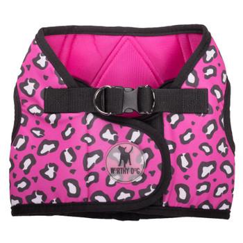 Worthy Dog Step-in Sidekick Dog Harness - Pink Cheetah