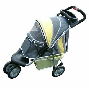 1st Class Dog Jogger Stroller - Yellow - 3 Wheeled