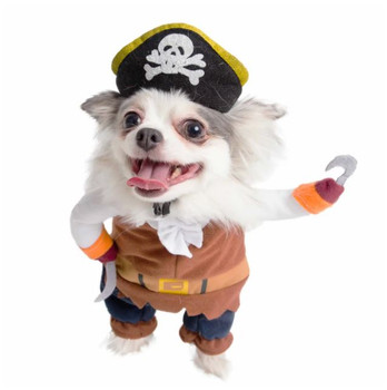 Pirate Pet Dog Costume With Arms / Hat