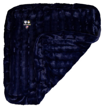 Minky Luxury Pet Dog Blanket- Midnight Blue - 6 sizes