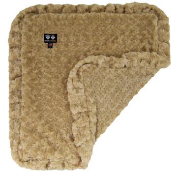 Rosebud Minky Luxury Pet Dog Blanket- Camel- 6 sizes