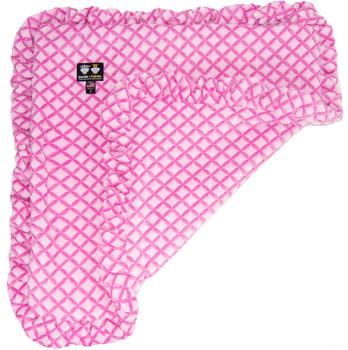Minky Luxury Pet Dog Blanket- Pink It Fence - 6 sizes