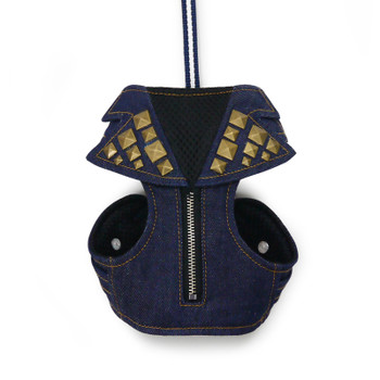 EasyGO Studded Denim Dog Harness