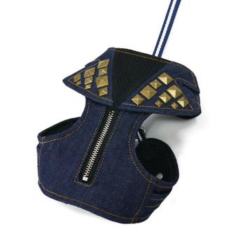 EasyGO Studded Denim Dog Harness