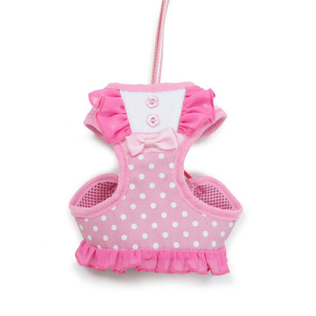 EasyGO Pink Bow Dots Dog Harness