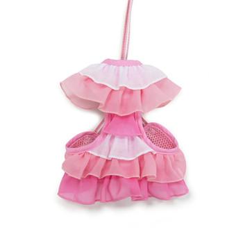 EasyGO Pink Multi Ruffle Dog Harness