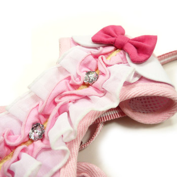 EasyGO Pink Ruffle Dog Harness