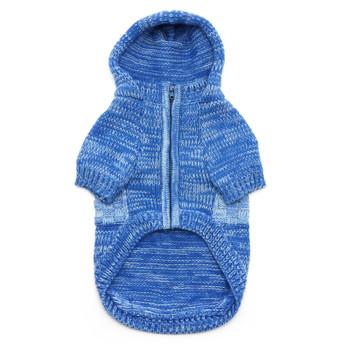 Blue Colorblock Dog Sweater Coat
