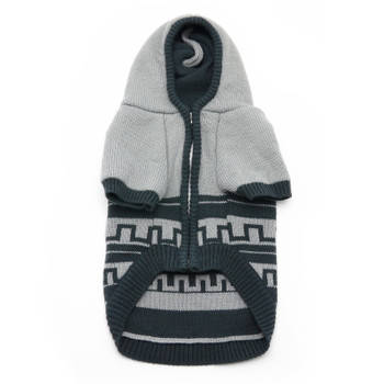 Hoodie Pattern Gray Cardigan Dog Sweater