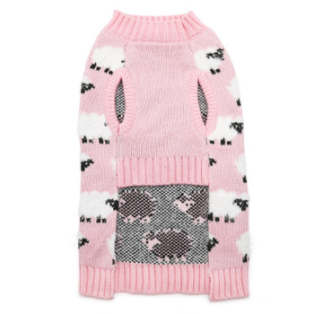 Sheep Pink Dog Sweater