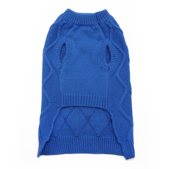 Diamond Knit Blue Dog Sweater