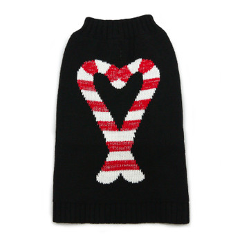 Christmas Candy Cane Dog Sweater