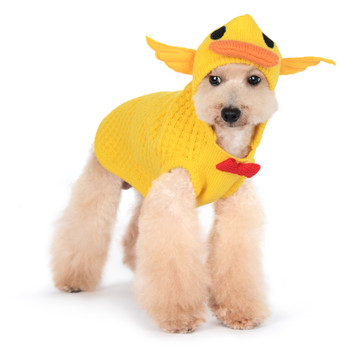Yellow Duckie Dog Sweater