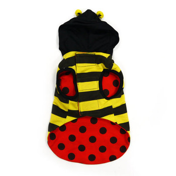 Ladybug or Bumblebee Reversible Dog Costume - 2 Costumes in 1