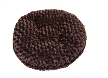 Chocolate Rosebud Bagel Pet Dog Bed
