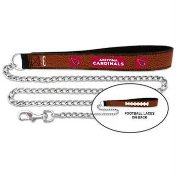 Arizona Cardinals Football Leather and Chain Leash