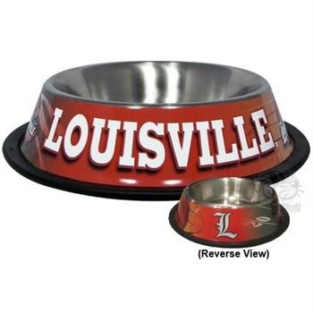Louisville Cardinals Dog Bowl