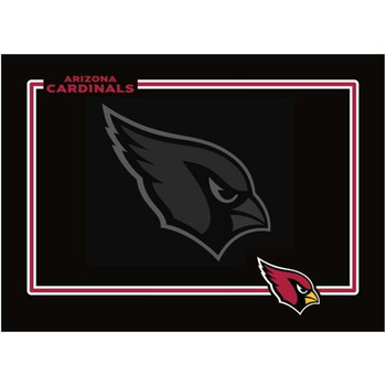 Arizona Cardinals Black Pet Bowl Mat